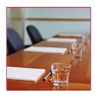 Leadership Workshop board room table